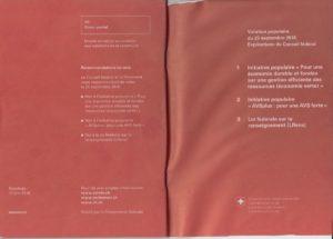 Livret explicatif des votations Suisse