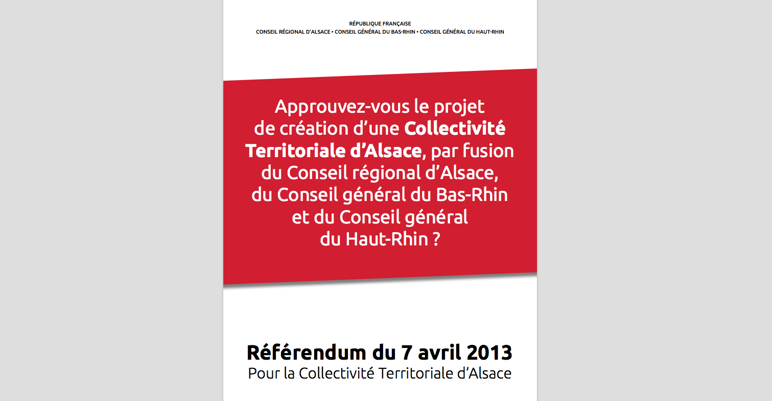 La grosse arnaque du référendum alsacien du 7 avril 2013